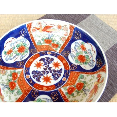 Photo3: Uenishiki sanpouwari botan houou DORABACHI Large bowl (27.3cm)