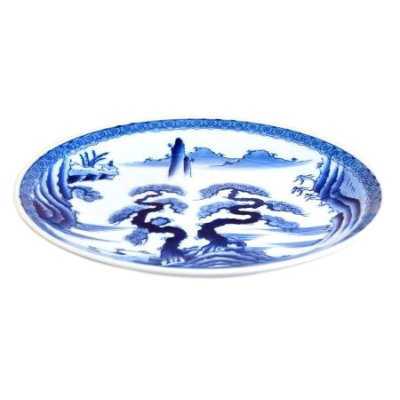 [Made in Japan] Sansui landscape Extra-large plate