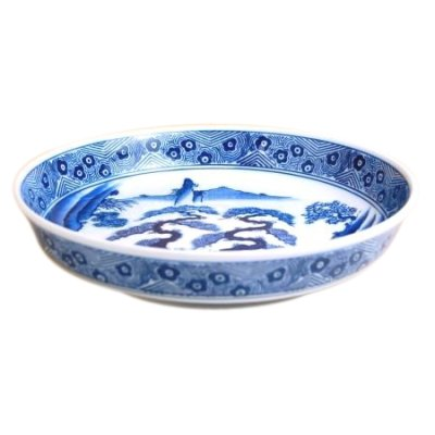 [Made in Japan] Sansui landscape DORABACHI Large bowl