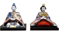 Ko-imari style Suwari Hina doll (a doll displayed at the Girls' Festival)