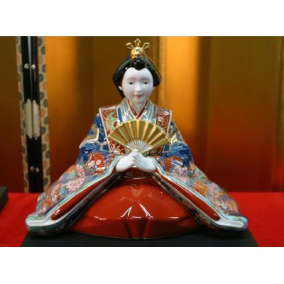 Photo3: Ko-imari style Suwari Hina doll (a doll displayed at the Girls' Festival)
