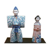 Nabeshima style Tachi Hina doll (a doll displayed at the Girls' Festival)