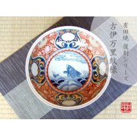 Somenishiki araiso-mon (Red) Large bowl (24.8cm)