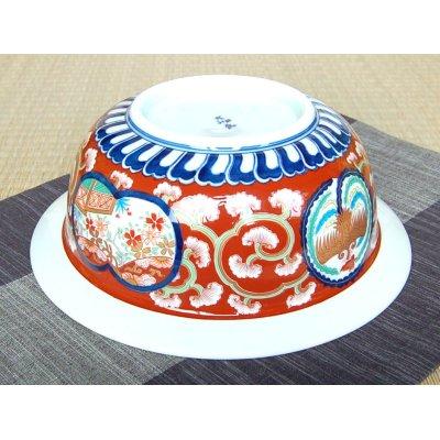 Photo4: Ko-imari Shishi-mon Large bowl (25.8cm)