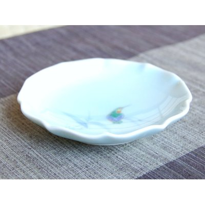 Photo2: Seihakuji Kawasemi bird Small plate (12.3cm)