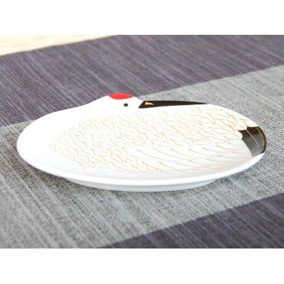 Photo2: Kinsai tsuru crane Small plate (12cm)