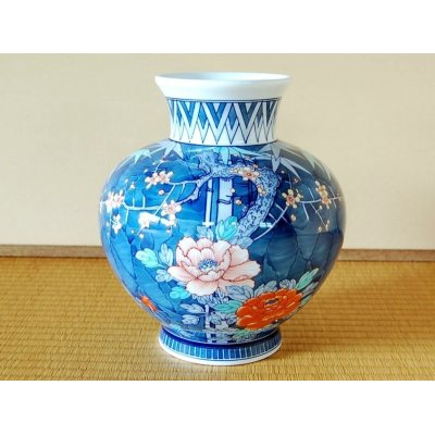 [Made in Japan] Dami take ume botan Vase