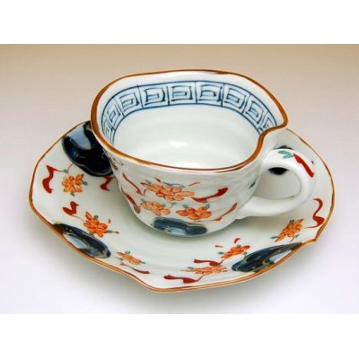 Photo3: Hana manreki Cup and saucer