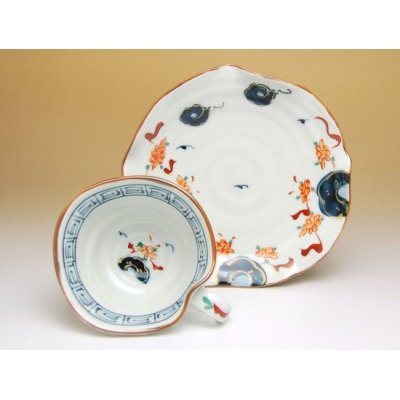Photo4: Hana manreki Cup and saucer