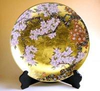 Kinrante Sakura Ornamental plate(40cm)