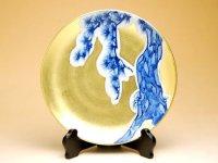 Kinrante Matsu (Small) Ornamental plate(19cm)