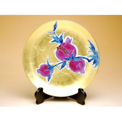 [Made in Japan] Kinrante Zakuro (Small) Ornamental plate(19cm)