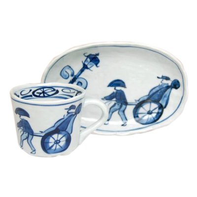 [Made in Japan] Jinrikisha Cup and saucer