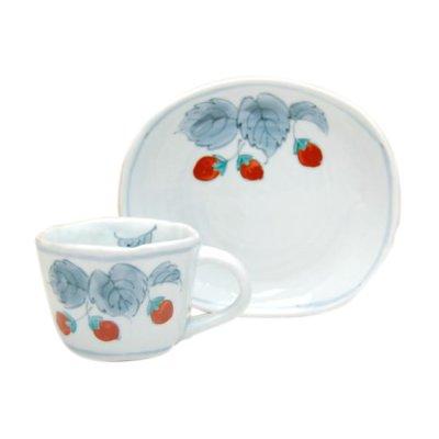 [Made in Japan] Beni Ichigo Cup and saucer