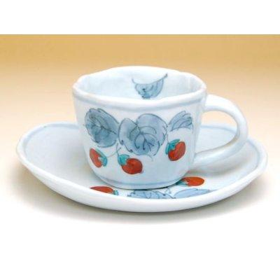 Photo2: Beni Ichigo Cup and saucer