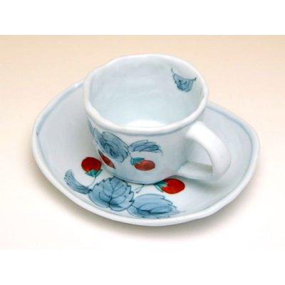 Photo3: Beni Ichigo Cup and saucer