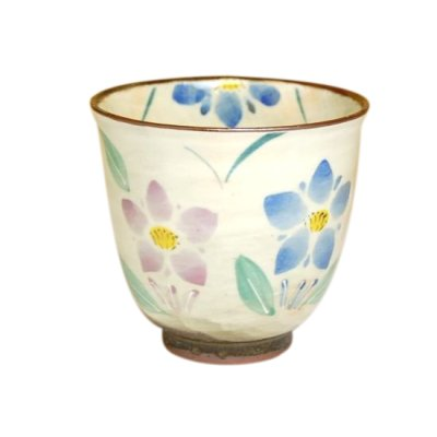 [Made in Japan] Hana rindow (Blue) Japanese green tea cup