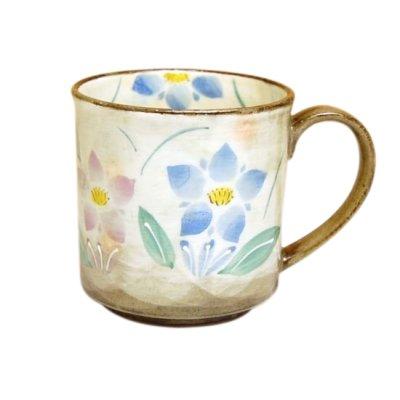 [Made in Japan] Hana rindou (Blue) mug