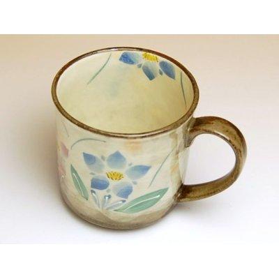 Photo2: Hana rindou (Blue) mug