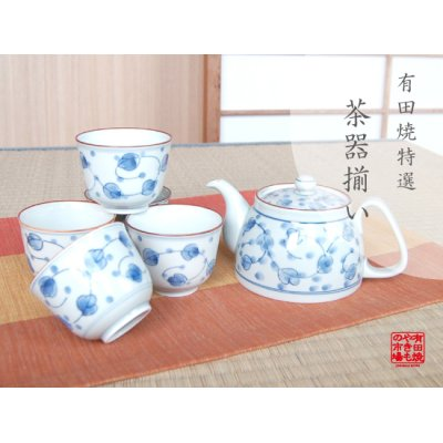 [Made in Japan] Miyako gusa Tea set (5 cups & 1 pot)