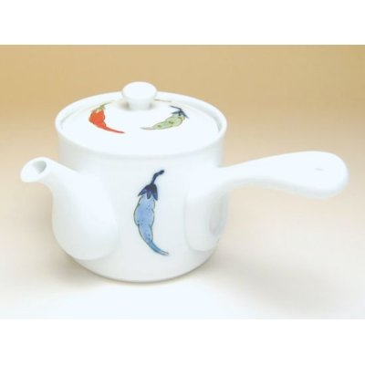 Photo2: Shikisai karashi Teapot