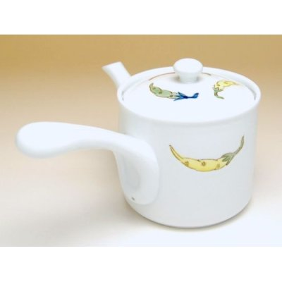 Photo3: Shikisai karashi Teapot