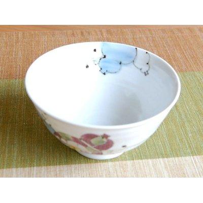 Photo3: Hana mubyo (Blue) rice bowl