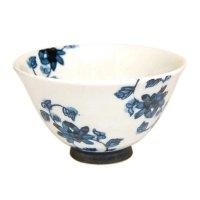 Saika karakusa (Blue) rice bowl