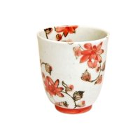 Saika karakusa (Red) Japanese green tea cup