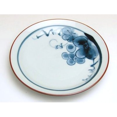 Photo2: Bdou grape Small plate (13.5cm)