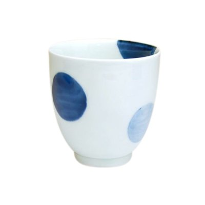 [Made in Japan] Nisai marumon (Blue) Japanese green tea cup