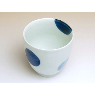 Photo2: Nisai marumon (Blue) Japanese green tea cup