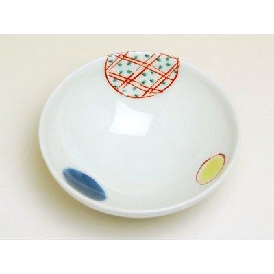 Photo3: Nishiki maru-mon Small bowl (8.2cm)