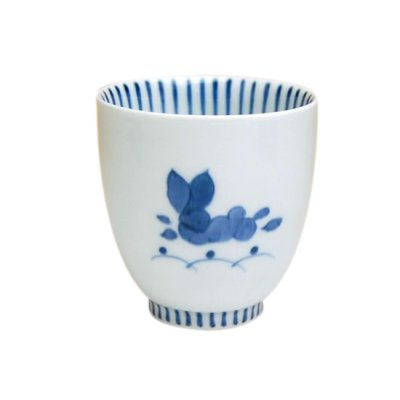 [Made in Japan] Mai usagi rabbit (Blue) Japanese green tea cup