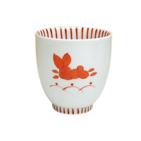 Mai usagi rabbit (Red) Japanese green tea cup
