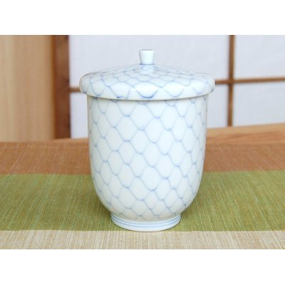 Photo2: Naigai Ami (Blue) Japanese green tea cup (wooden box)