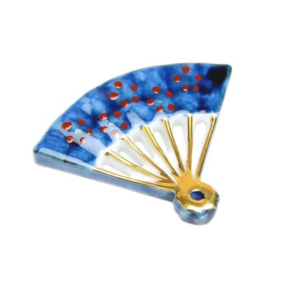 [Made in Japan] Nishiki oogi fan Chopstick rest