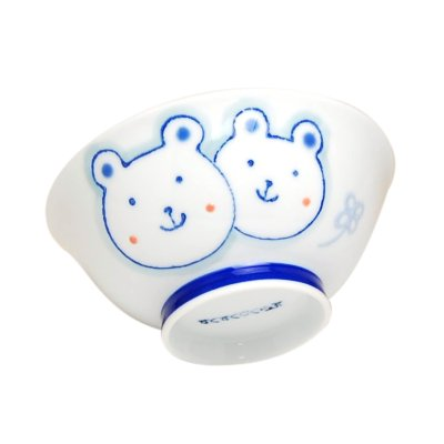 [Made in Japan] <Child tableware>Sukusuku bear Rice bowl
