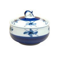 Kamon (Blue) Bowl with the cover