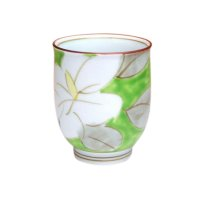 Kuchinashi (Green) Japanese green tea cup