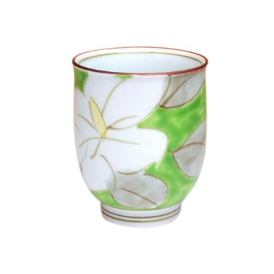[Made in Japan] Kuchinashi (Green) Japanese green tea cup
