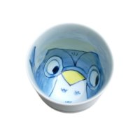 Yume fukurou owl (Blue) Japanese green tea cup