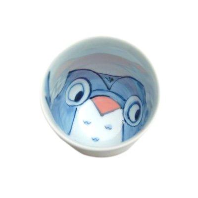 [Made in Japan] Yume fukurou owl (Red) Japanese green tea cup