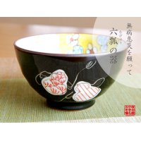 Mubyo shikisai (Red) rice bowl