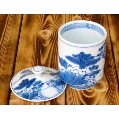 Photo2: Sansui landscape (Large) Japanese green tea cup