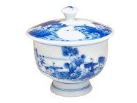 Sansui landscape Japanese green tea cup