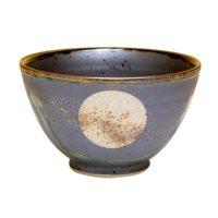 Fuku kasumi moon (Black) rice bowl