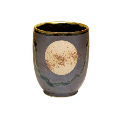 [Made in Japan] Fuku kasumi moon (Black) Japanese green tea cup