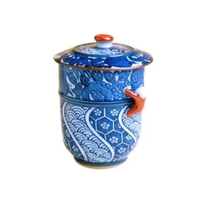 [Made in Japan] Kacho Ikkan-jin (Red) Japanese green tea cup