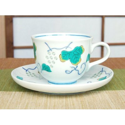 Photo2: Suisho budou grape (Blue) Cup and saucer